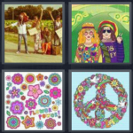 4pics1word 6 letters hippie in 4 pics 1 word 1051